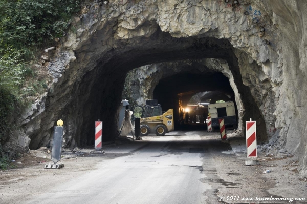Blocked Tunnel on the Border with Montenegro