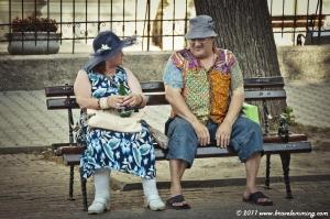 Interesting couple...