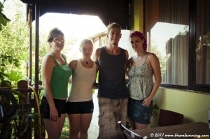 With Sonia and her mum, very friendly hosts in Smederevo