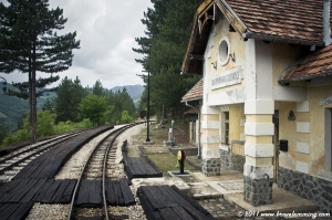 Train Station from the Kusturica's movie Life is a Miracle