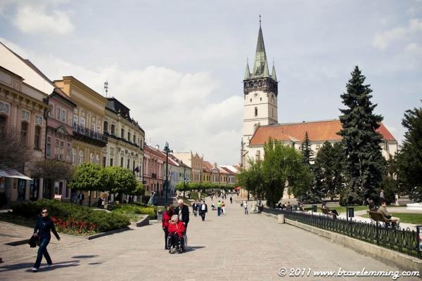 Prešov city center