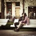 Les amoureux sur les bancs publics