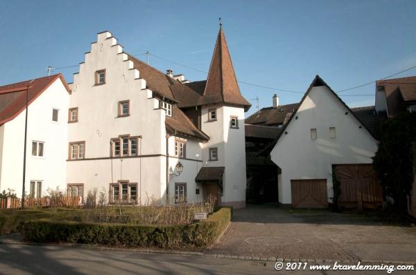 Arriving in Riehen, near Basel