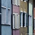 Colourful facades in Baden, switzerland