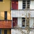 Facades in Baden, switzerland