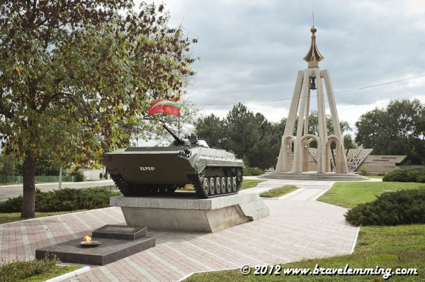 Tank memorial in Bender, Transnistria