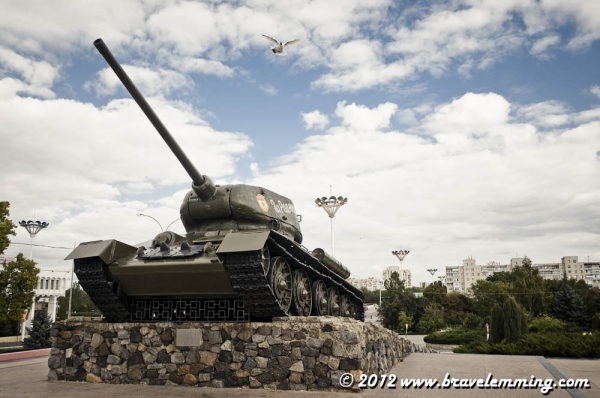 Tank memorial in Tiraspol