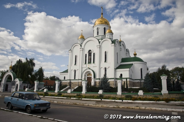 An Orthodox church in Tiraspol