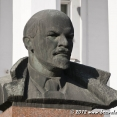 Lenin in front of the House of the Soviets in Tiraspol