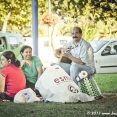 Turkish family having picnic in Istanbul