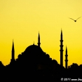 Sunset over the Istanbul