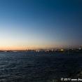 Sitting along the Bosphorus during sunset