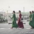 Turkmen girls in Turkmenabat