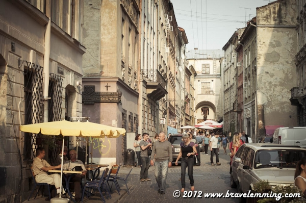 In the streets of Lviv