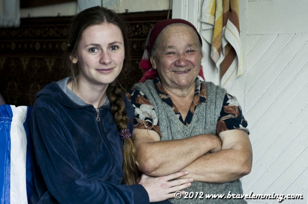 Anastasiya and her grandma