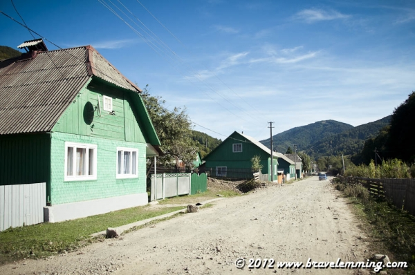 Komsomorsk, a village lost in the Carpathians