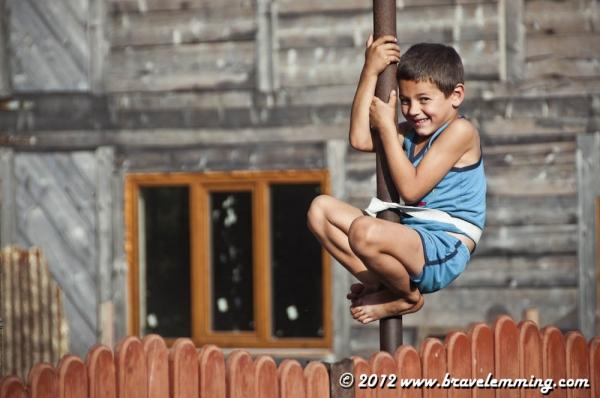 Kid playing :-)