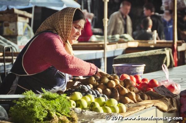 Privoz market in Odessa