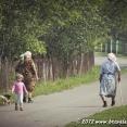 Street scene in a village...