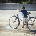 Big bike for a young boy :)