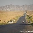 On the road in Uzbekistan
