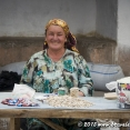 Portrait of a woman at a local market