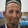 Portrait of a man at a local market