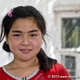 A young Uzbek girl who practiced her English with us